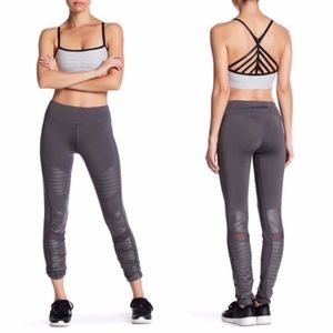 Electric Yoga Motorcycle Yoga Pants Charcoal